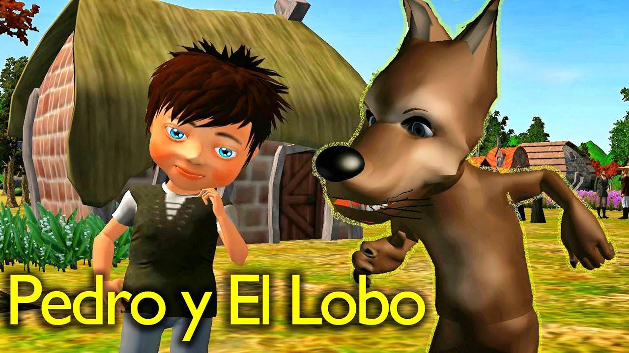 La Cancion del Cuento de Pedro y El Lobo - Videos Para Niños - Cuentos Clásicos Lunacreciente