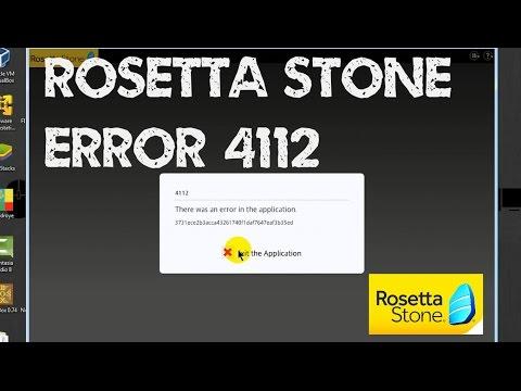 Memperbaiki Rosetta Stone Error 4112