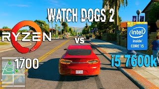 Ryzen 7 1700 vs i5 7600k in Watch Dogs 2 (GTX 1070)