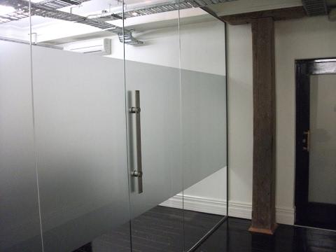 Frameless Glass Doors for Office Design - YouTube