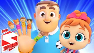 Finger Family Song | Nursery Rhymes and Baby Songs For Children | Kids Song with Super Supremes