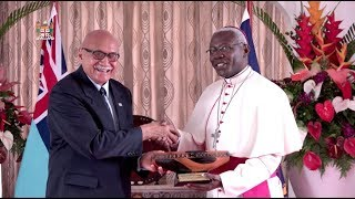 Fijian President receives letter of credence from Archbishop Novatus Rugambwa