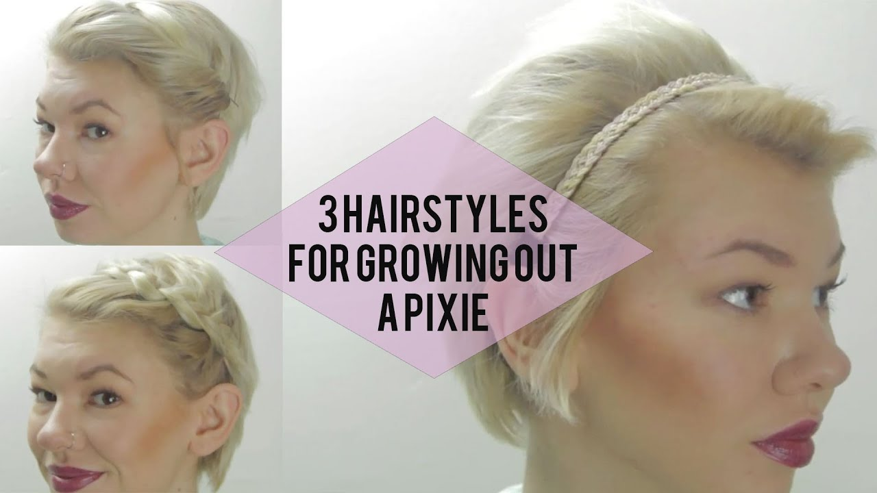 3 easy hairstyles for growing out a pixie (very short hair tutorials)
