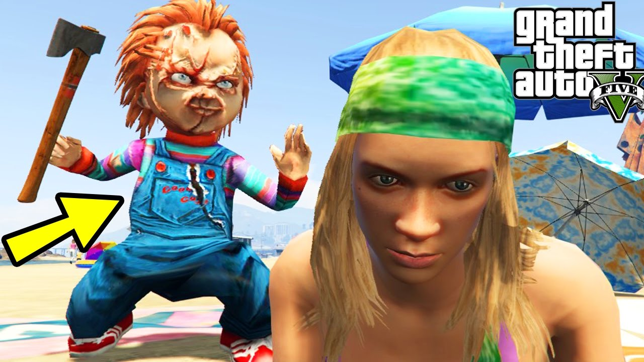 GTA 5 Mods CHUCKY THE KILLER DOLL MOD Chucky Movie Mod Games Funny Moments