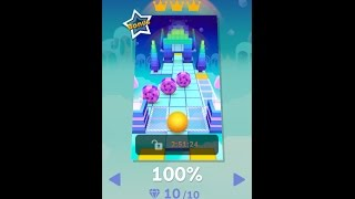 Rolling Sky Bonus Level 3 Candy 100% Clear 10 Gems 3 Crowns + All Mystery Box Locations