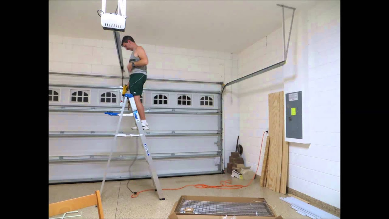 Time Lapsed Installation Of Ceiling Mounted Shelves Youtube