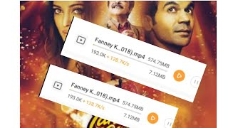 How to Download Fanney Khan Full movie In mobile