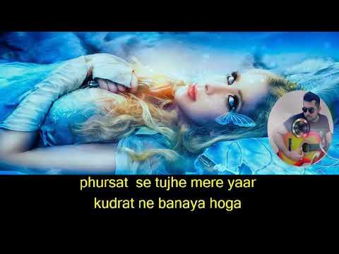 Kitna Haseen Chehra karaoke with Lyrics   YouTube 720p
