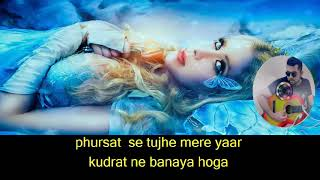 Kitna Haseen Chehra karaoke with Lyrics YouTube 720p