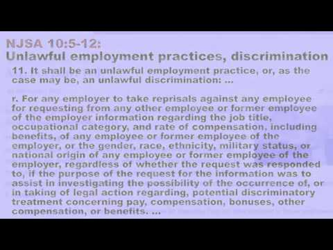 Employment Law NJ Statute