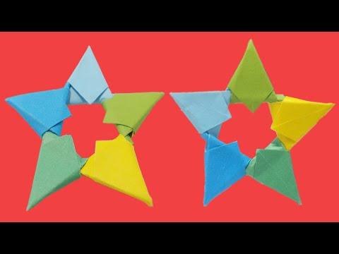 How to make crafty fold star | Paper folding ninja stars