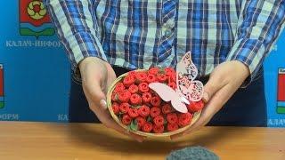 Поделки: розы из салфеток