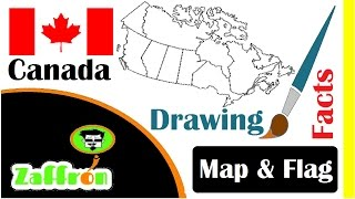 Learn Canada Country Facts, Geography, Map & Flag Drawings | حقائق كندا | 国の事実と地理 | zaffron
