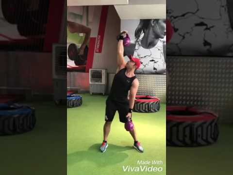 Kettlebell Low-High Windmill (20kgx2)