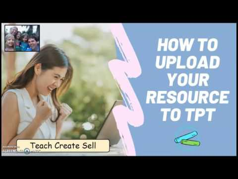 How to Upload your Resources to TpT