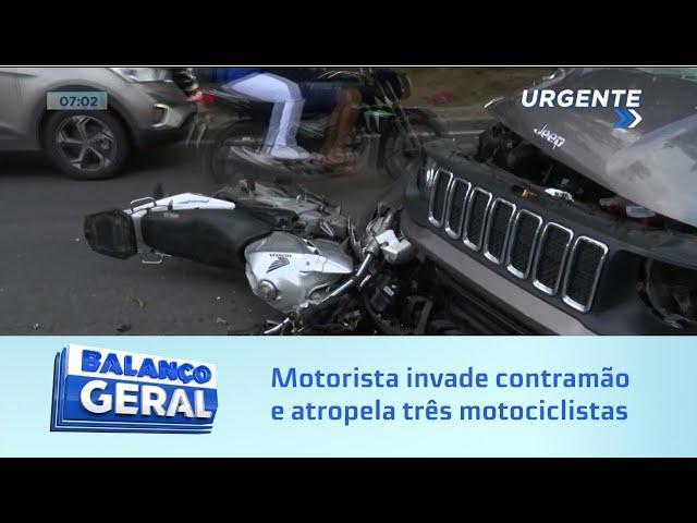 Uma morte confirmada: Motorista invade contramão e atropela três motociclista na Av. Fernandes Lima