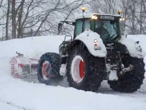 Marjollet TP - Déneigement - Fendt snow removal