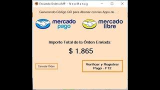 MercadoPago y QR en NewManag