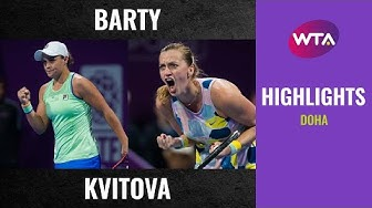 Ashleigh Barty vs. Petra Kvitova | 2020 Doha Semifinal | WTA Highlights