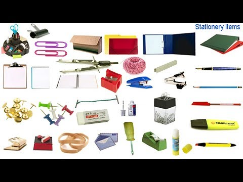 Stationery Items Vocabulary with Image | English Word with English & Bangle Meaning