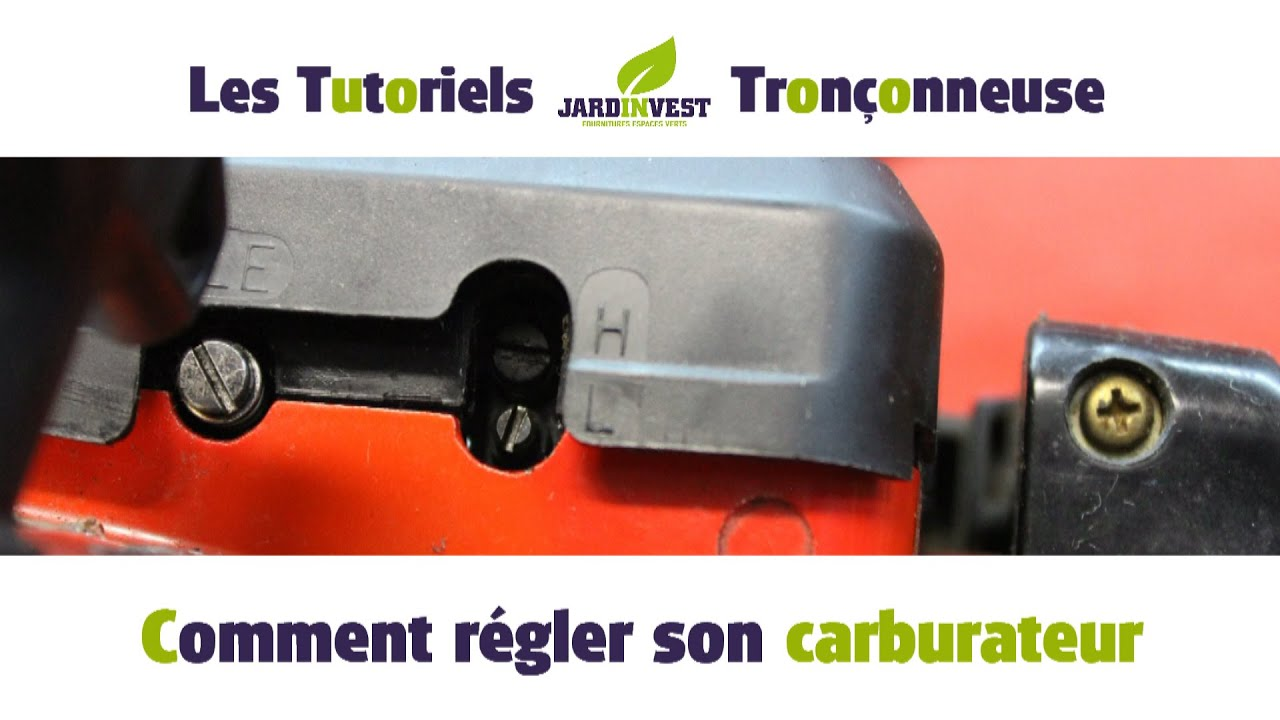 tutoriel tron onneuse n 12 comment r gler le carburateur de votre tronconneuse youtube. Black Bedroom Furniture Sets. Home Design Ideas