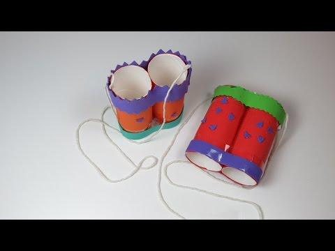 DIY Binoculars with Toilet Paper Roll. Eco-friendly Bird Finders Binoculars