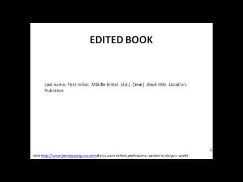 How to cite an edited book in APA format