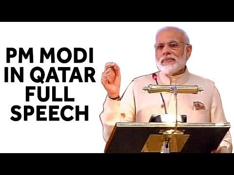 PM Narendra Modi Full Speech in Qatar,Doha