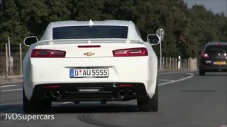 2016 Chevrolet Camaro SS - Burnouts, Dragrace & accelerations!