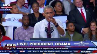 HILARIOUS: President Obama Loses Control of the Crowd After Trump Supporter Interrupts the Rally FNN