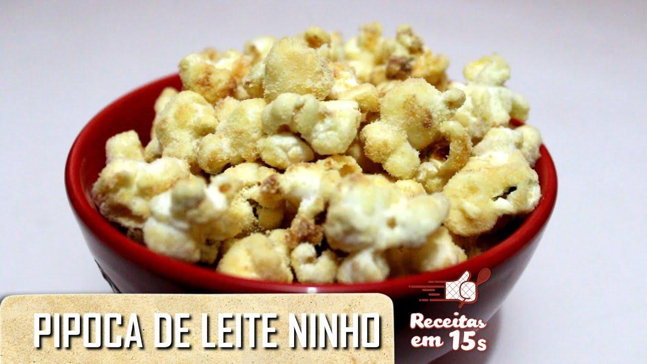 Favoritos Pipoca Gourmet de Leite Ninho em 15 segundos - YouTube BP03