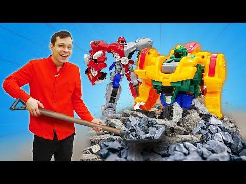 Классные игровые наборы - Новые роботы трансформеры металионы! Видео распаковка мальчикам