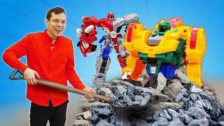 Классные игровые наборы - Новые роботы трансформеры металионы! Видео распаковка игрушек