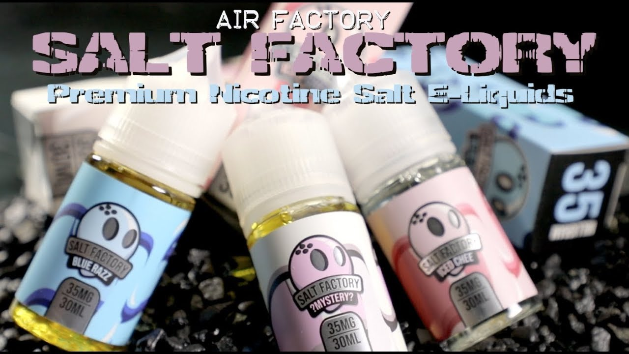 Salt Factory Premium E Liquids By Air Factory E Liquid Review