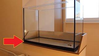 Запуск аквариума 150 л часть1. Самодельный аквариумный поддон  homemade aquarium tray