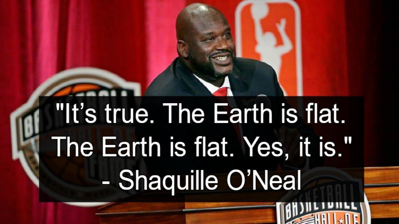 Shaq flat earth