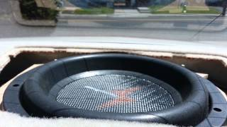 2003 cadillac cts PPI subwoofer swap excursion