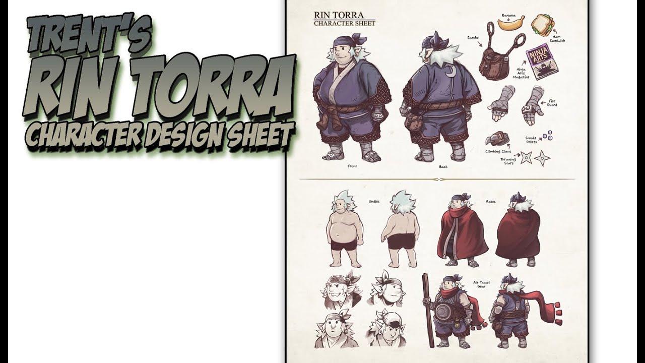 Trent S Rin Torra Character Design Sheet Lesson : Demo rin torra character design sheet youtube
