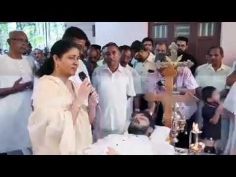 Christian malayalam testimony by a mother on her son's funeral......STRONG FAITH IN GOD!!!
