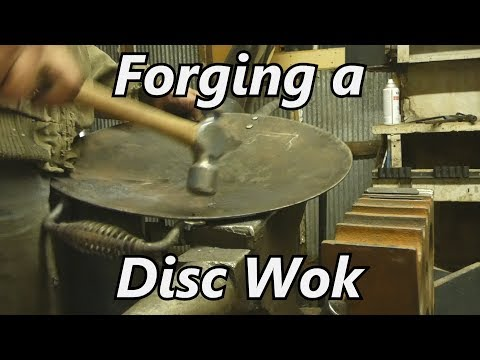 Forging a Wok from a Harrow Disc | Iron Wolf Industrial