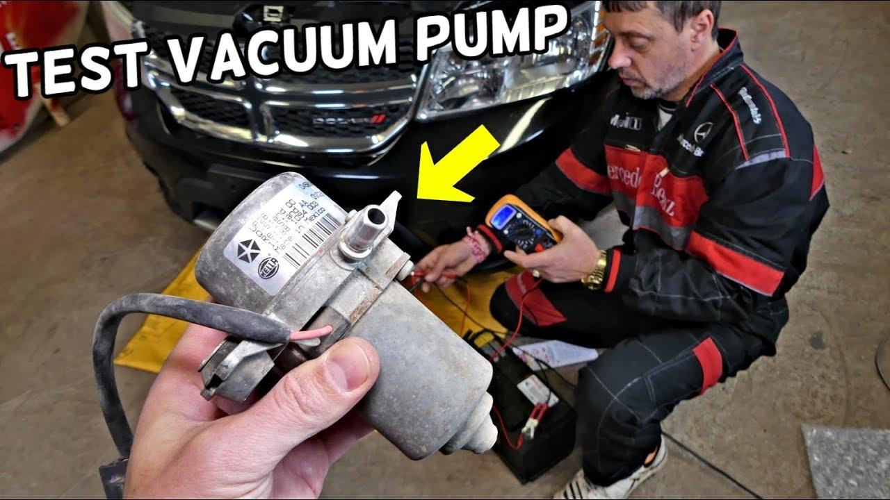 How To Test Brake Vacuum Pump On Dodge Chrysler Jeep Hard Brake
