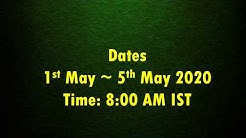 Live Meditation Class with Sanjiv Malik 1 to 5th May, 8:00 AM Daily, Link in Description