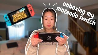 unboxing my new nintendo switch + animal crossing