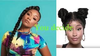 "Kiara Simone ""How to Rob"" 2017 vs Nicki Minaj ""Barbie Dreams"" 2018"