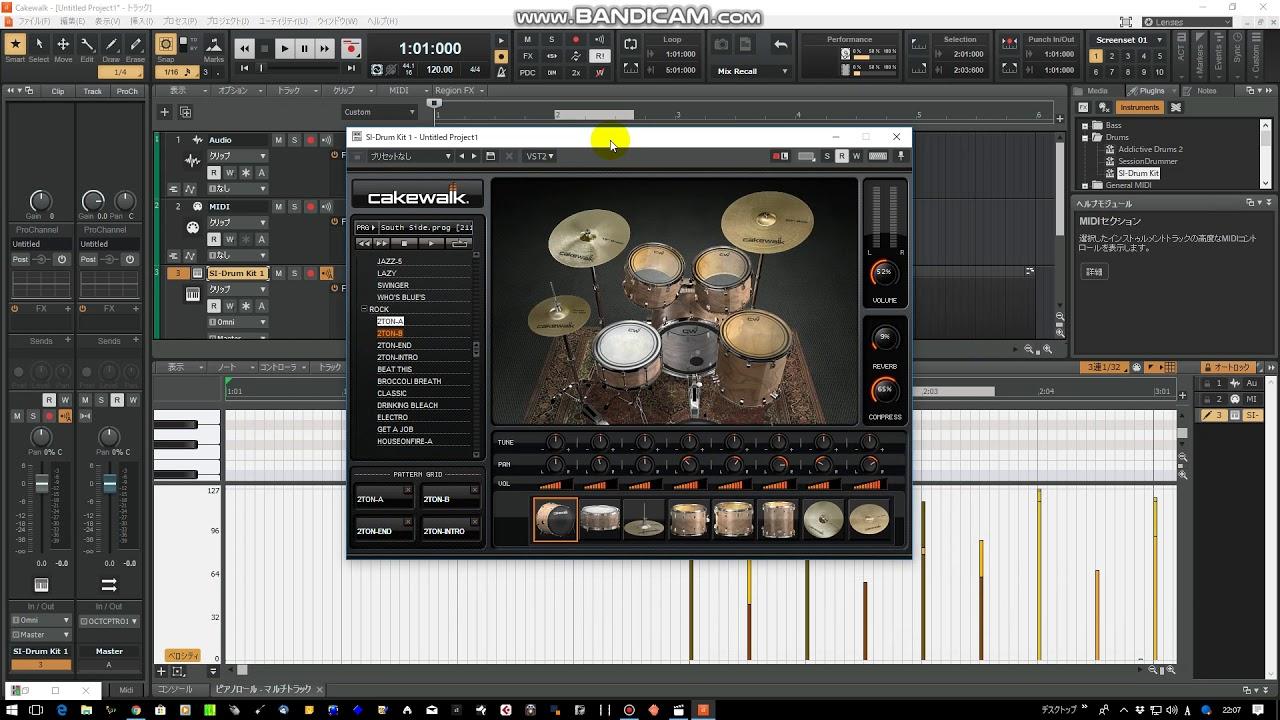 【Cakewalk#6】SI-Drum Kitをゆるく解説してみた【10分間DTM】