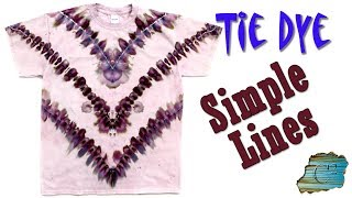 How to Tie Dye:  Simple Lines  [Ice Dye]