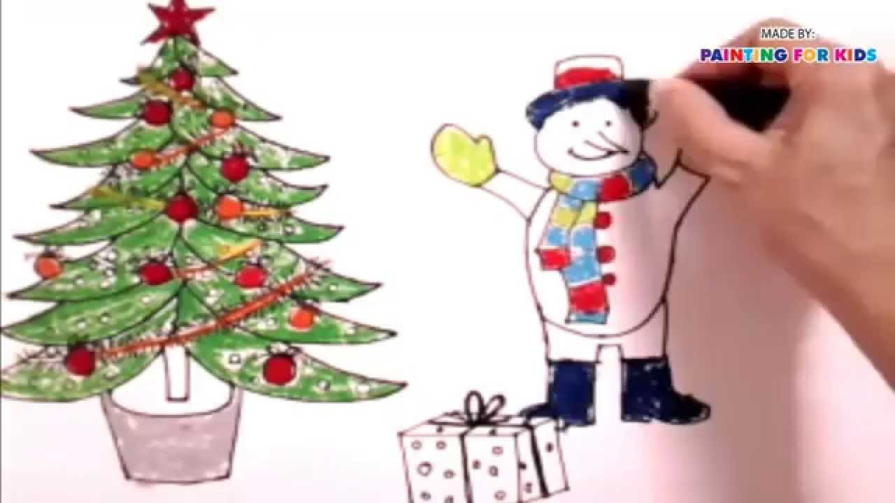 How To Draw Christmas Tree For Kids How To Paint A Christmas Tree
