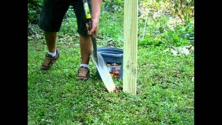5.   Installing Wooden Deer Fence Posts And Using Trees