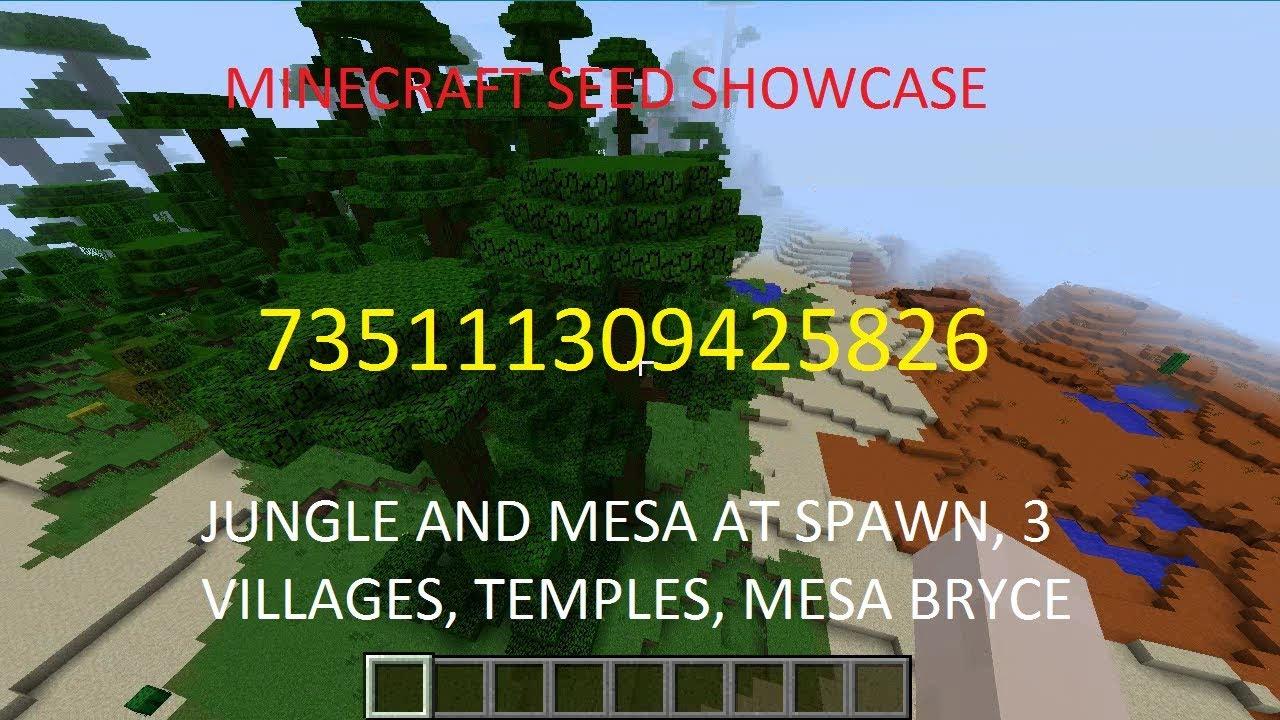 Jungle, Mesa, Temples, Villages - Minecraft Seeds