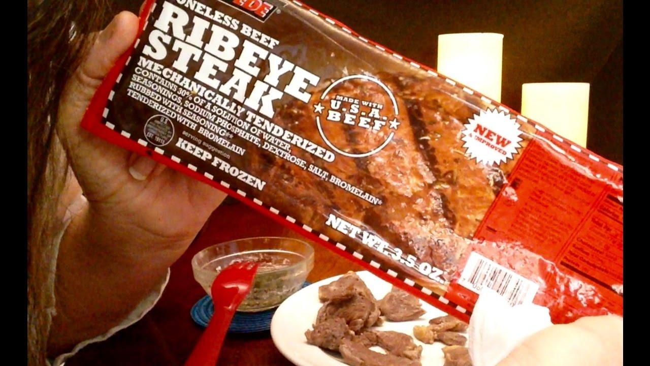 Dollar Tree Stampede Boneless Beef Ribeye Steak Review
